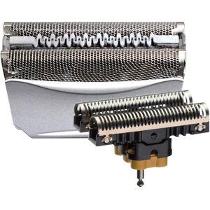 Braun Ersatzscherteil »51«, kompatibel mit WaterFlex Rasierern, silberfarben