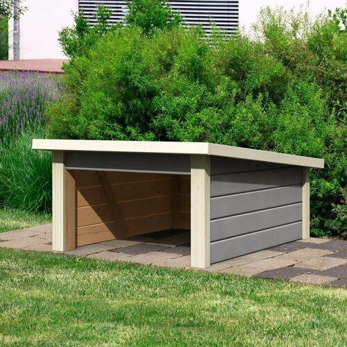 Karibu Mähroboter-Garage seidengrau, BxT: 79x96 cm, grau