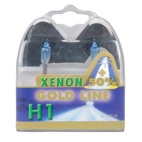 Xenon Halogenlampen »H1 Xenon Gold, 12V, 55W«, weiß
