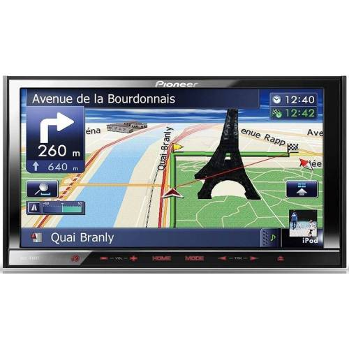 Pioneer Audio-System (AVIC-F40BT - 2-DIN Navigation Bluetooth (17,8 cm (7 Zoll) Touchscreen, Autoradio)