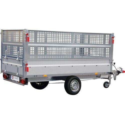 STEMA PKW-Anhänger »BASIC SH 1300-25-13«, max. 905 kg, inkl. Gitteraufsatz und Flachplane