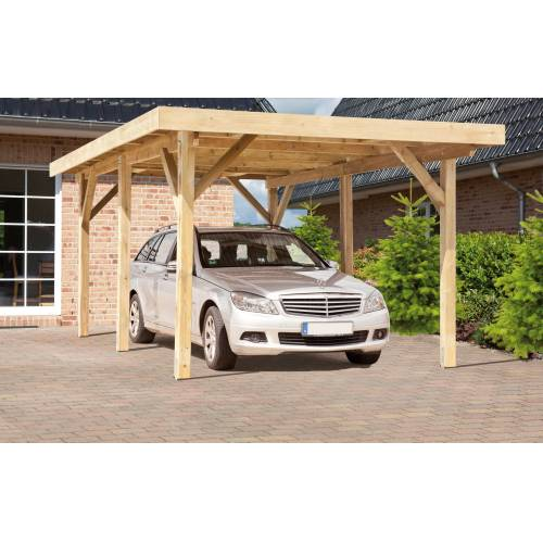 Kiehn-Holz Einzelcarport »KH 101«, BxT: 340x510 cm, mit Alu-Dach, grün