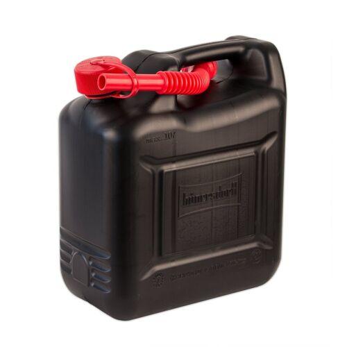 BigDean Kanister »10 Liter Benzinkanister Kunststoff - Schwarz, rot - Diesel Reservekanister 10L«