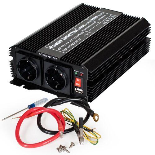 tectake »Wechselrichter 12V auf 230V 1000W 2000W« Spannungswandler