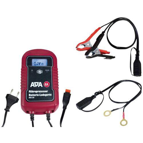 APA Batterieladegerät »6/12V 8A«, rot