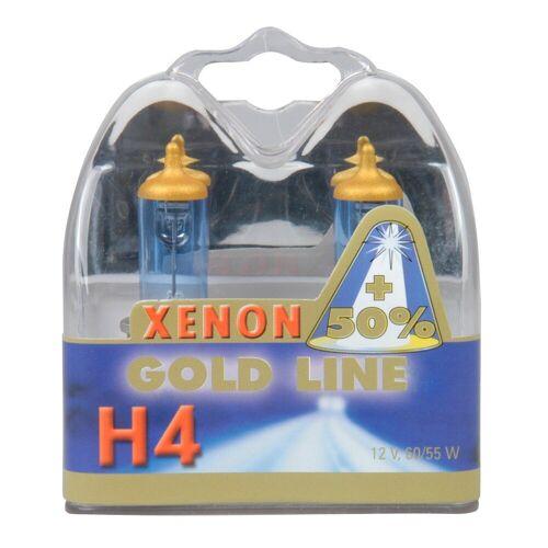 Xenon Set: Halogenlampen »H4 Xenon Gold 12V, 60/55W«, weiß