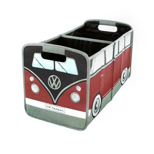 VW Collection by BRISA Faltbox »VW Bulli T1«, Organizer für den Kofferraum, Rot/Schwarz