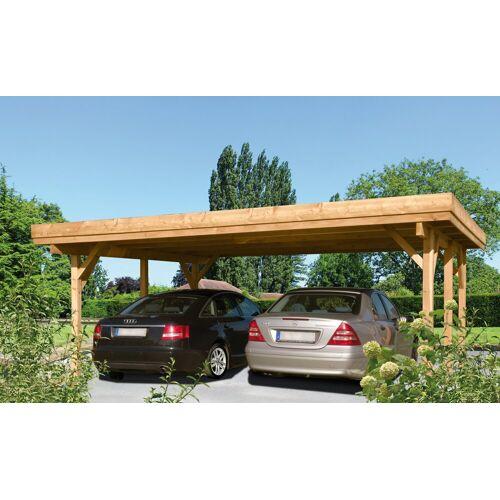 Kiehn-Holz Doppelcarport »Bochum«, BxT: 604 x 510 cm, natur