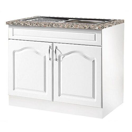 wiho Küchen Spülenschrank »Linz« 100 cm breit, inkl. Einbauspüle, Weiß