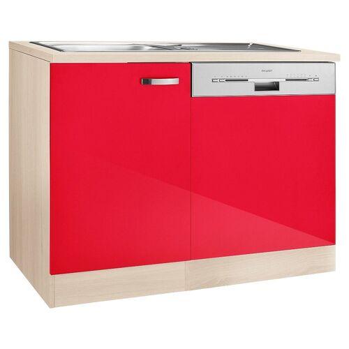 OPTIFIT Spülenschrank »Faro«, mit Tür/Sockel für Geschirrspüler, rot Glanz