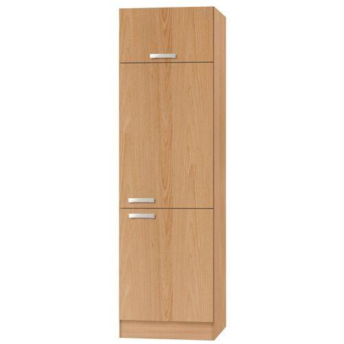 OPTIFIT Kühlumbauschrank »Odense« 60 cm breit, 207 cm hoch, geeignet für Einbaukühlschrank mit Nischenmaß 88 cm, buche/buche