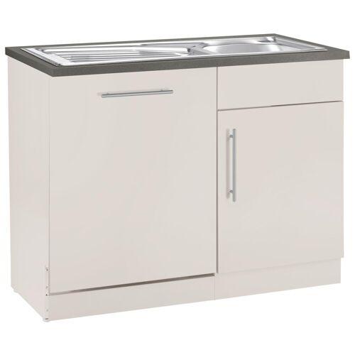 wiho Küchen Spülenschrank »Cali« 110 cm breit, inkl. Tür/Sockel für Geschirrspüler, Cashmere/Cashmere
