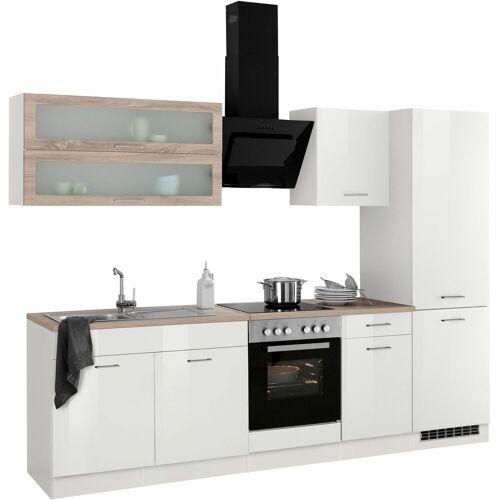 HELD MÖBEL Küchenzeile »Utah«, ohne E-Geräte, Breite 270 cm, Weiß Hochglanz
