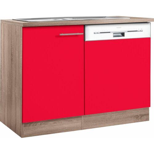 OPTIFIT Spülenschrank »Korfu«, mit Tür/Sockel für Geschirrspüler, rot