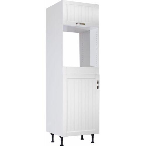 OPTIFIT Backofenumbauschrank »Cara« Backofenumbauschrank, Weiß Landhaus/Weiß-weiß