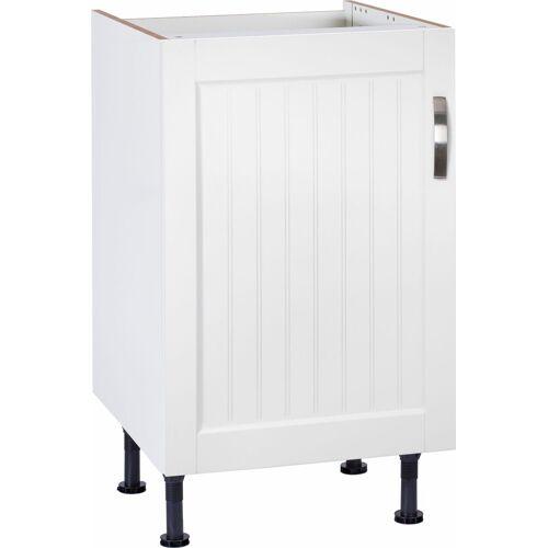 OPTIFIT Spülenschrank »Cara« Breite 50 cm, weiß Landhaus/weiß