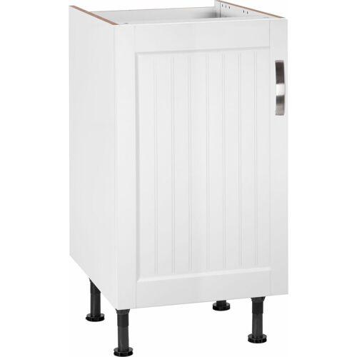 Spülenschrank »Cara« Breite 45 cm, weiß Landhaus/weiß