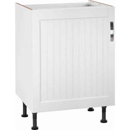 OPTIFIT Spülenschrank »Cara« Breite 60 cm, weiß Landhaus/weiß