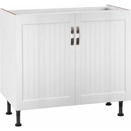 Spülenschrank »Cara« Breite 90 cm, weiß Landhaus/weiß