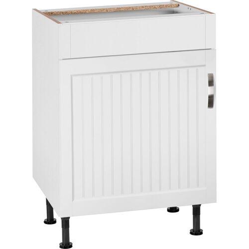 Spülenschrank »Cara« Breite 60 cm, weiß Landhaus/weiß