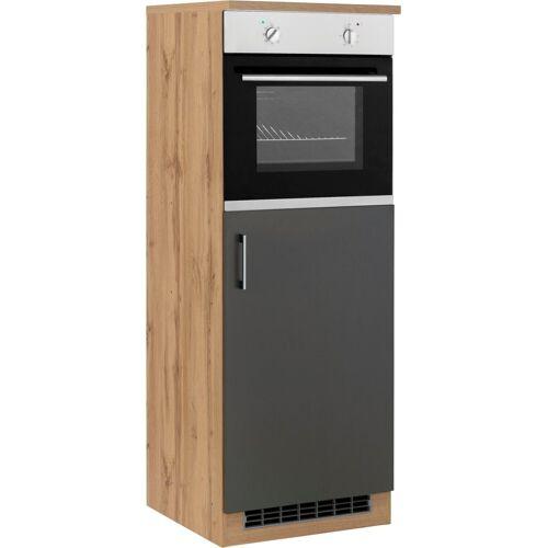 HELD MÖBEL Backofen/Kühlumbauschrank »Colmar« 60 cm breit, 165 cm hoch, geeignet für Einbaukühlschrank und Einbaubackofen, anthrazit