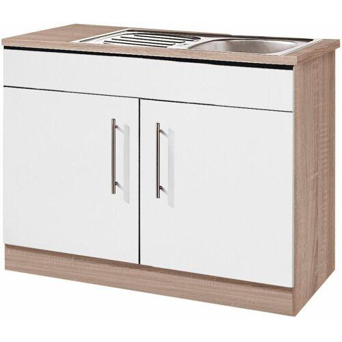 wiho Küchen Spülenschrank »Aachen«, weiß matt