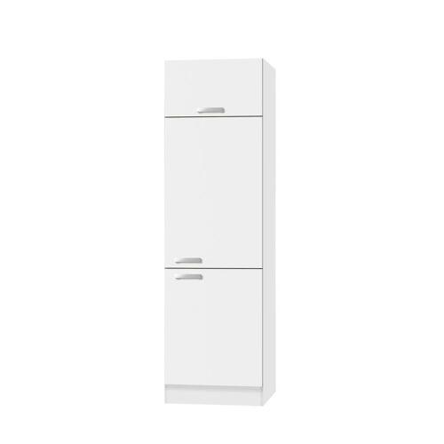 OPTIFIT Kühlumbauschrank »Odense« 60 cm breit, 207 cm hoch, geeignet für Einbaukühlschrank mit Nischenmaß 88 cm, weiß/weiß