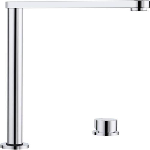 Blanco Küchenarmatur »ELOSCOPE-F II«, Hochdruck, versenkbare Vorfensterarmatur, chrom x chrom