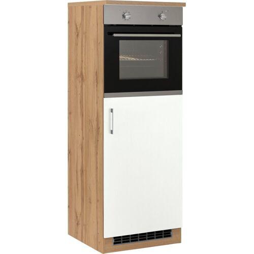 HELD MÖBEL Backofen/Kühlumbauschrank »Colmar« 60 cm breit, 165 cm hoch, geeignet für Einbaukühlschrank und Einbaubackofen, weiß