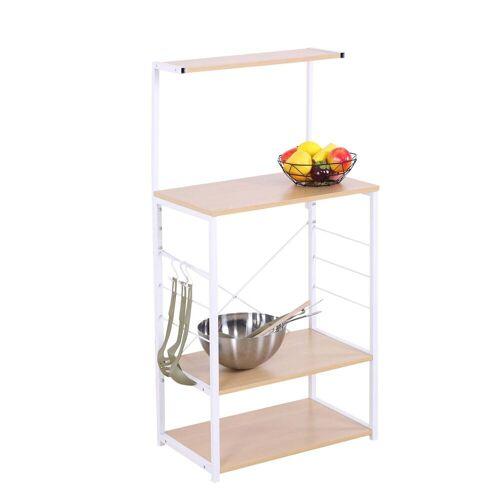HTI-Line Küchenregal »Regal Mona Regal Mona«, Küchenregal, Weiß