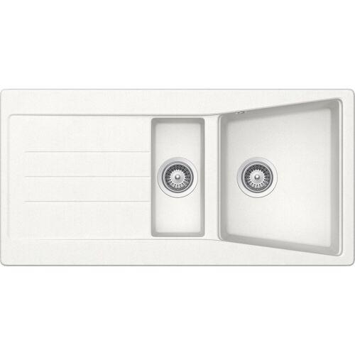 RESPEKTA Einbauspüle »SEATTLE1.5B«, 100x50 cm, 1,5 Becken, weiß