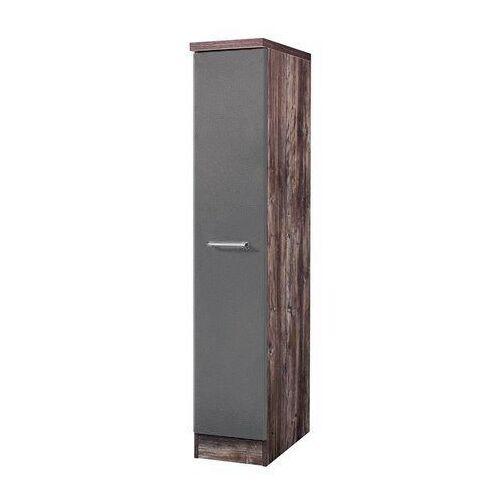 HELD MÖBEL Apothekerschrank »Sevilla, Höhe 165 cm«, grau/ vintage eiche