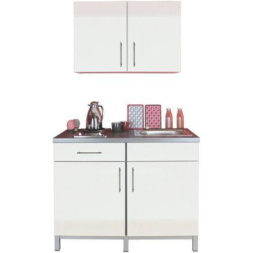 Menke Küchen Küchenzeile »Rack-Time Single 120«, mit E-Geräten, 120 cm breit