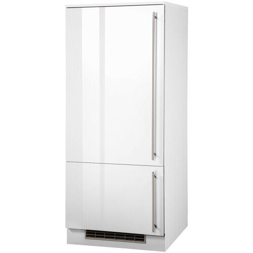 wiho Küchen Kühlumbauschrank »Chicago« 60 cm breit, für Einbaukühlschrank, Weiß Glanz