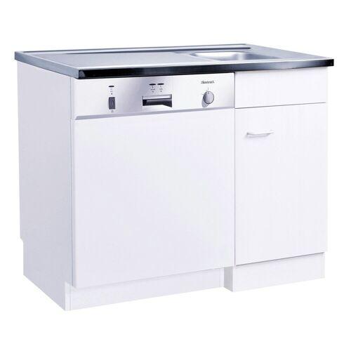 HELD MÖBEL Spülenschrank »Elster« für Unterbau-Geschirrspüler, ohne Möbelfront B/H/T: ca. 100/60/85 cm, weiß