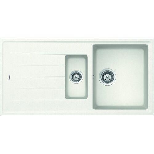 RESPEKTA Einbauspüle »COLUMBIA1.5B«, 100x50 cm, 1,5 Becken, weiß