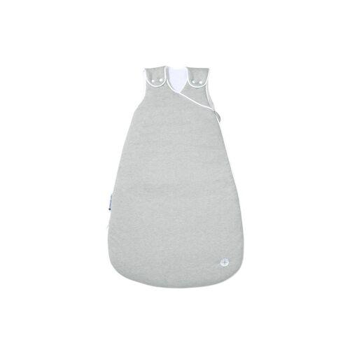 Nordic Coast Company Babyschlafsack, Baby-Schlafsack mitwachsend & atmungsaktiv I Kinderschlafsack waschbar I leichter Schlafsack I Baumwolle I Grau