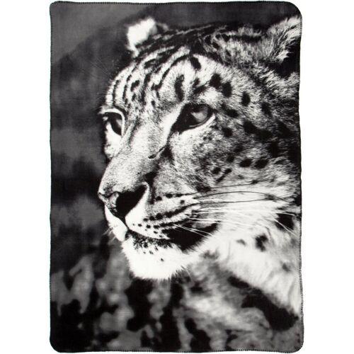 BIEDERLACK Wohndecke »Leopard«, , mit Leopardenmotiv