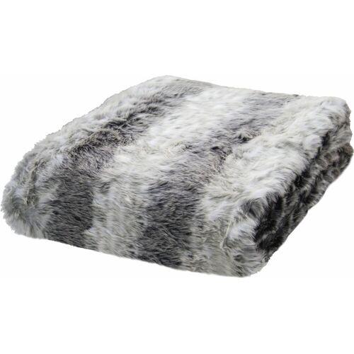 TOM TAILOR Wohndecke »Fake Fur«, , in Felloptik
