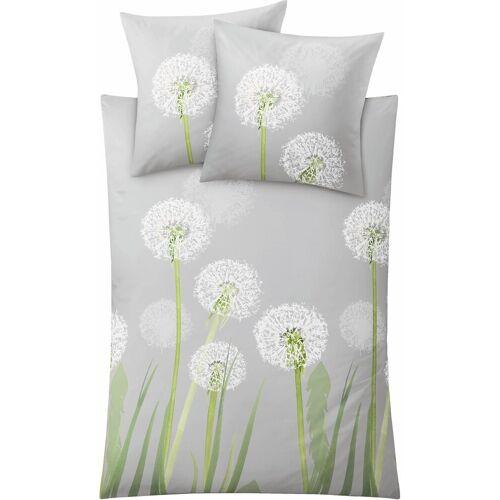 Kleine Wolke Bettwäsche »Belfiore«, , mit Pusteblumen, grau