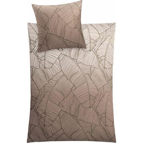 Kleine Wolke Bettwäsche »Vero«, , mit Palmenblattmuster, taupe