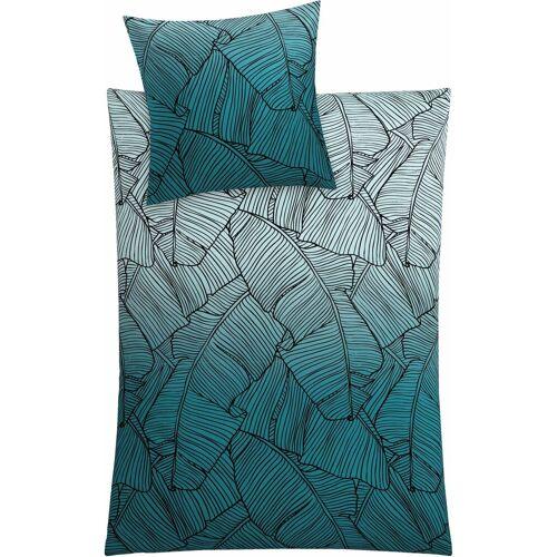 Kleine Wolke Bettwäsche »Vero«, , mit Palmenblattmuster, petrol
