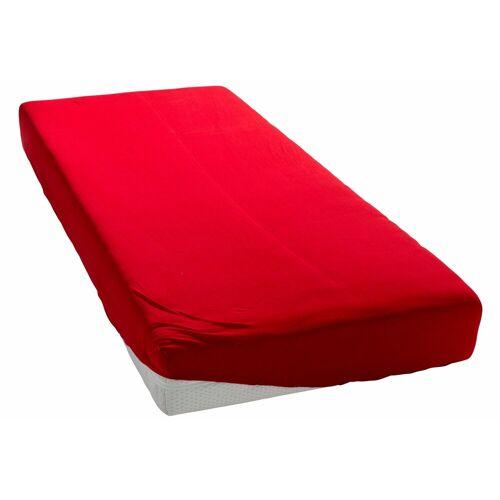 my home Spannbettlaken »Microfaser«, , schnell trocknend, rot