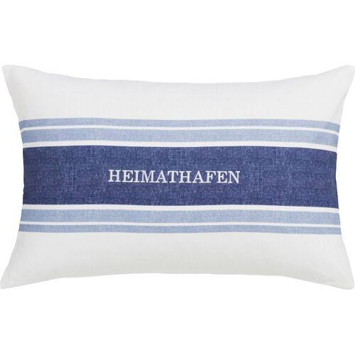 Estella Kissenhülle »HEIMATHAFEN«, (1 Stück), mit Schriftzug