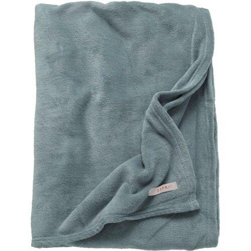 Esprit Plaid »Mellow«, , besonders kuschelig und weich, grau-blau