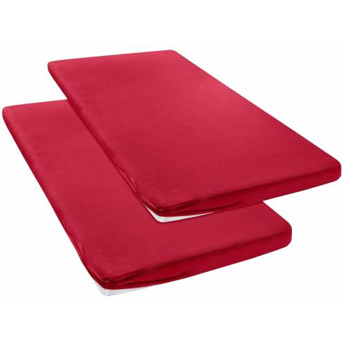 my home Spannbettlaken »Jersey«, , für Topper, rot