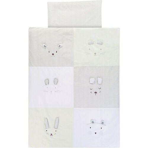 Alvi® Bettwäsche »Kinderbettwäsche Faces, 100 x 135 + 40 x 60 cm«,