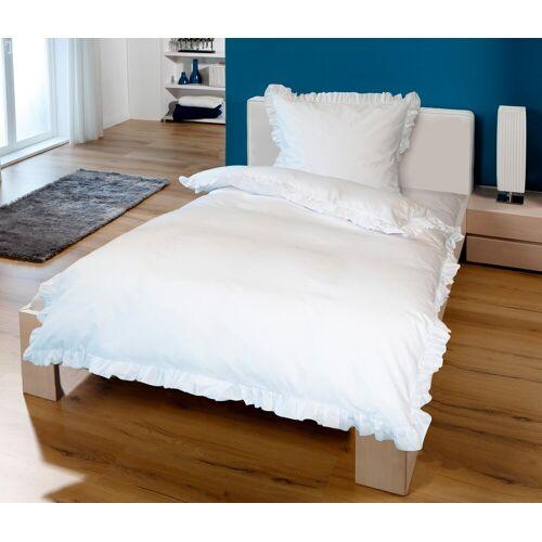 Goldmond Bettwäsche »Rüschen«, , mit Rüschen, weiß