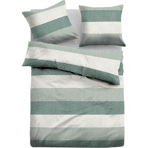 TOM TAILOR Bettwäsche »Caro«, , mit unterschiedlichen Streifen, grün