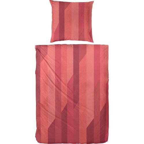 Primera Bettwäsche »Anton«, , mit Streifen, rot